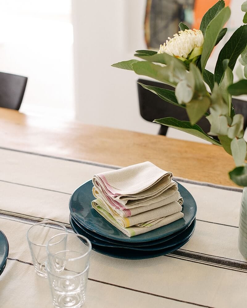 Mungo Table Linen made from natural fibres and woven in South Africa